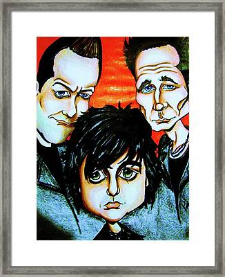 Green Day Framed Print by Penny  Elliott