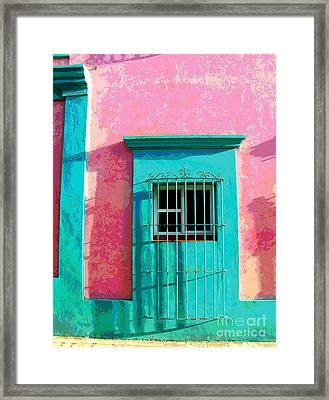 Green Door By Darian Day Framed Print by Mexicolors Art Photography