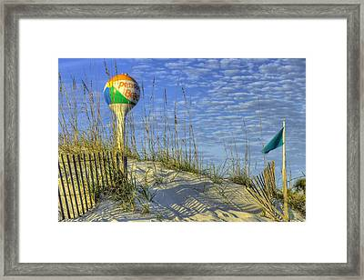 Green Flags On Pensacola Beach Framed Print by JC Findley