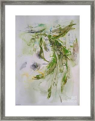 Green Grasses Shimmer Framed Print by Dorota Zukowska