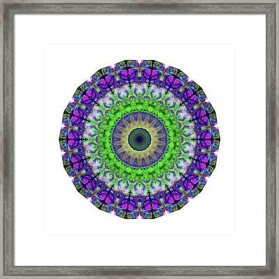 Green Light Mandala Art By Sharon Cummings Framed Print by Sharon Cummings