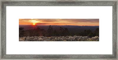 Green Mountain View Framed Print by Leland D Howard