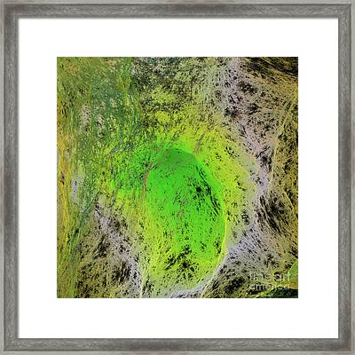 Green On Center Stage Framed Print by Deborah Benoit