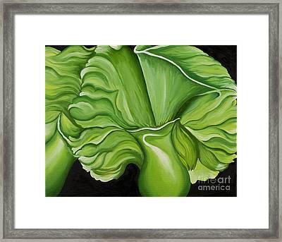 Green Orchids Framed Print by Sweta Prasad