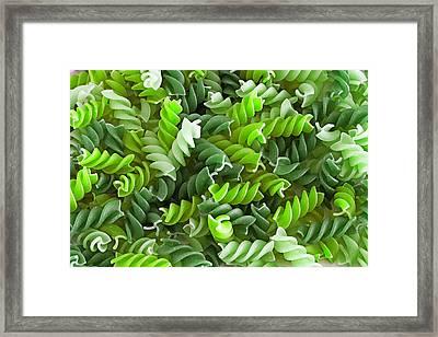 Green Pasta Framed Print by D Plinth