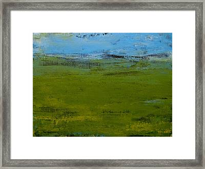 Green Pastures 1 Framed Print by Jani Freimann