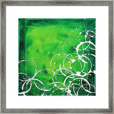 Green Riches By Madart Framed Print by Megan Duncanson