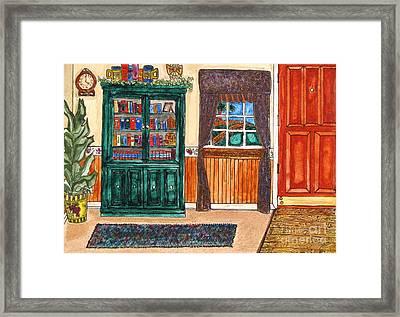 Green Shelf Framed Print by Randie Lee