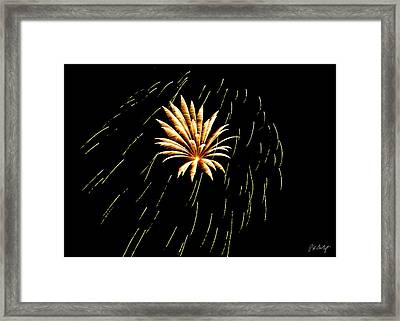 Green Streaks Framed Print by Phill Doherty