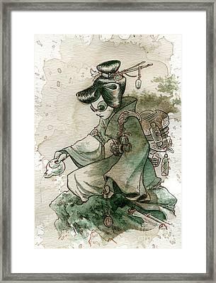 Green Tea Framed Print by Brian Kesinger