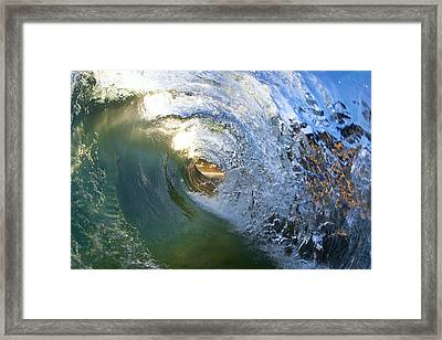 Green Tunnel  -  Part 3 Of 3 Framed Print by Sean Davey