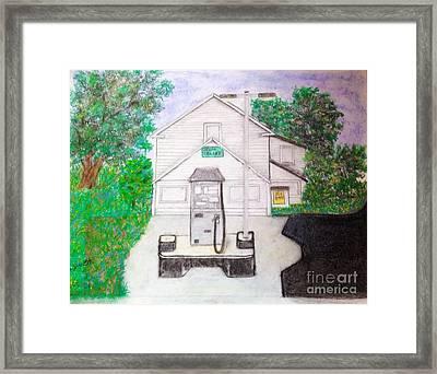 Green Valley Grocery Framed Print by Debra Lynch