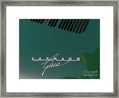 Green Volkswagon Karmann Ghia . 7d10091 Framed Print by Wingsdomain Art and Photography
