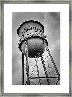 Gruene Water Tower Framed Print by Stephen Stookey
