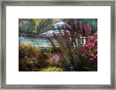 Greenhouse - The Greenhouse Framed Print by Mike Savad