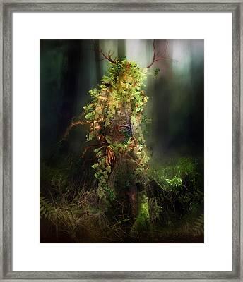 Greenman Framed Print by Mary Hood