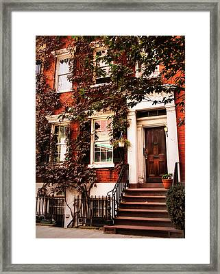 Greenwich Village Charm Framed Print by Jessica Jenney