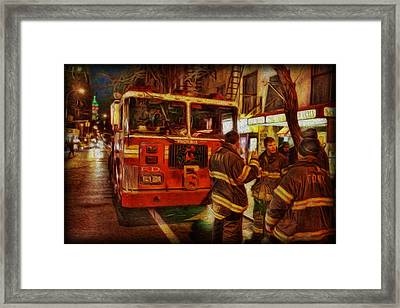 Greenwich Village's Finest Framed Print by Lee Dos Santos