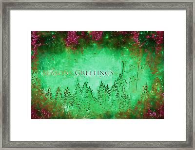 Greeting The Season Framed Print by Kathy Bassett
