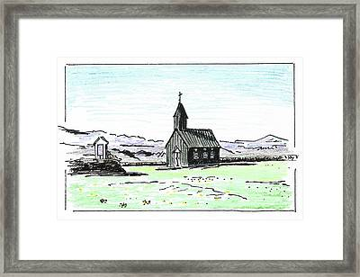 Greetings From Iceland Framed Print by Masha Batkova