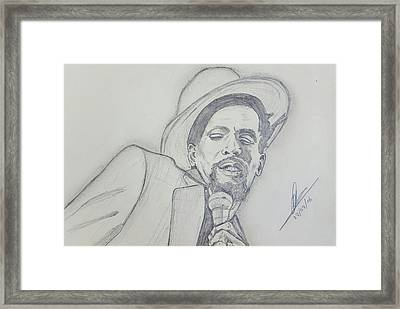 Gregory Isaacs Framed Print by Collin A Clarke