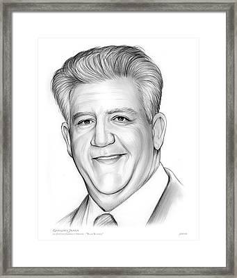 Gregory Jbara Framed Print by Greg Joens