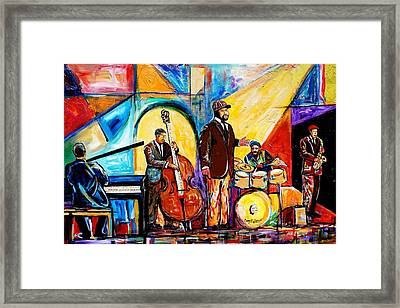 Gregory Porter And Band Framed Print by Everett Spruill