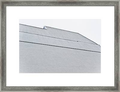 Grey Wall Framed Print by Tom Gowanlock