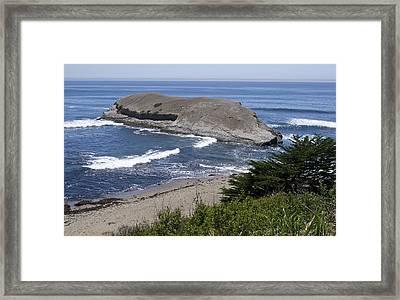 Greyhound Rock State Beach - Santa Cruz - California Framed Print by Brendan Reals