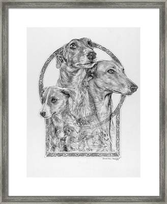 Greyhound - The Ancient Breed Of Nobility - A Legendary Hidden Creation Series Framed Print by Steven Paul Carlson