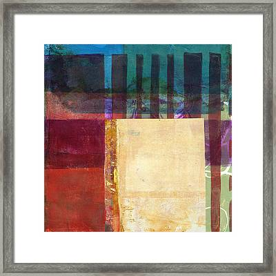 Grid Print 14 Framed Print by Jane Davies