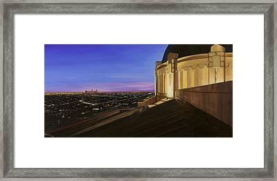 Griffith Park Observatory Framed Print by Christopher Oakley