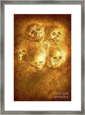 Grim Tales Of Burning Skulls Framed Print by Jorgo Photography - Wall Art Gallery