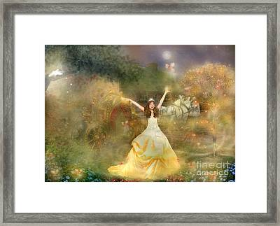 Grimms Fairie Cinderella  Framed Print by Carrie Jackson