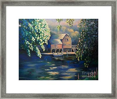 Grist Mill 2 Framed Print by Marlene Book