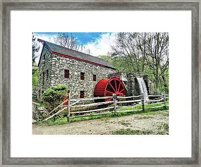 Grist Mill Framed Print by Bill Dussault
