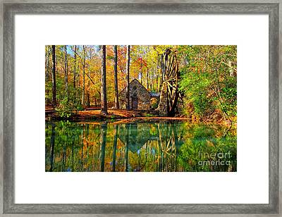 Grist Mill Framed Print by Geraldine DeBoer