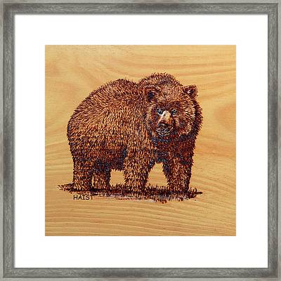 Grizzly 2 Pillow/bag Framed Print by Ron Haist