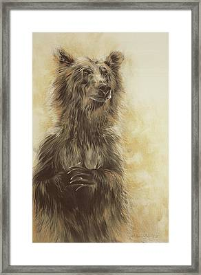 Grizzly Bear Framed Print by Odile Kidd