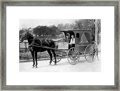 Grocery Store Buggy Framed Print by Underwood Archives