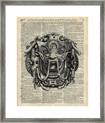 Grotesque Mask  Framed Print by Jacob Kuch