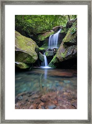 Grotto Falls-the Lower Cascades Framed Print by Thomas Schoeller