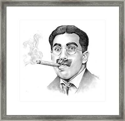 Groucho Framed Print by Greg Joens