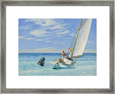 Ground Swell Framed Print by Edward Hopper