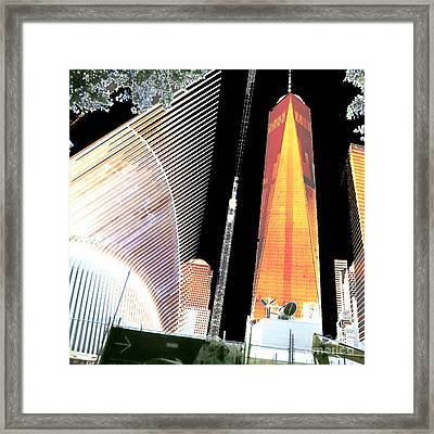 Ground  Zero Freedom Tower Formerly World Trade  Centre Wtc New York Photo Taken On July 4 2015 Usa  Framed Print by Navin Joshi