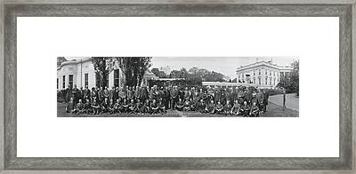 Group Including Einstein And Harding 1921 Washington Dc Framed Print by Panoramic Images