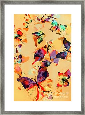 Group Of Butterflies With Colorful Wings Framed Print by Jorgo Photography - Wall Art Gallery