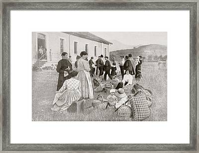 Group Of Spanish Citizens Repatriated Framed Print by Vintage Design Pics