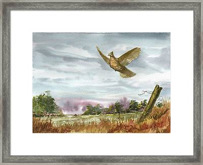 Grouse Post Framed Print by Sean Seal