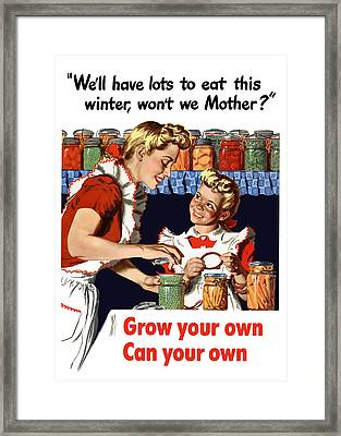 Grow Your Own Can Your Own  Framed Print by War Is Hell Store